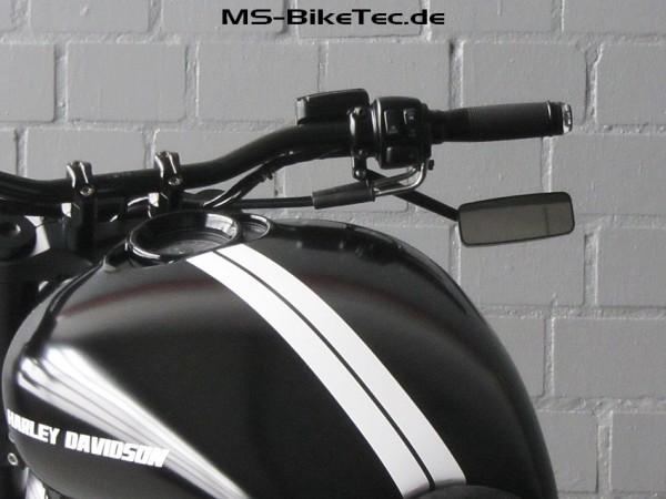 """Spiegel """"Kuro"""" für Harley ® V Rod ®, Sportster ®, Dyna ®, Softail ®... (2 Stück)"""