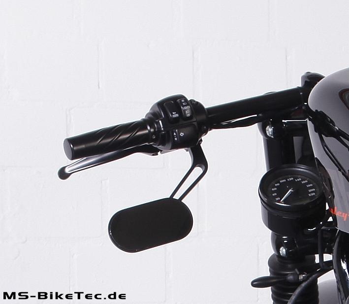 Spiegel loop schwarz f r harley v rod sportster for Spiegel unten motorrad