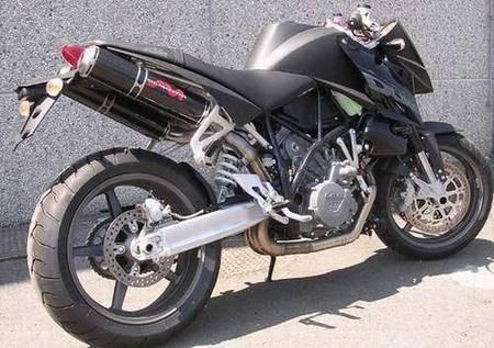 "SIL-Motor Slip-On Schalldämpferpaar ""Megapipe"" ab Bj. 05 KTM ® Superduke 990 mit ABE*"