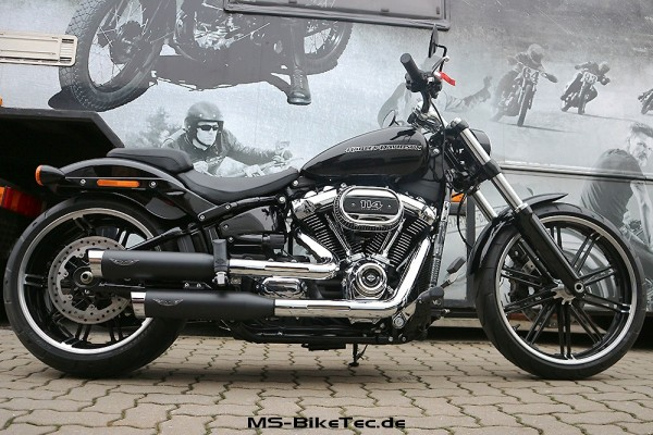 "Penzl ""V2-Speed"" slip-on Auspuff-Set mit ABE + Soundverstellung für Softail Modelle (EURO 3+4)"