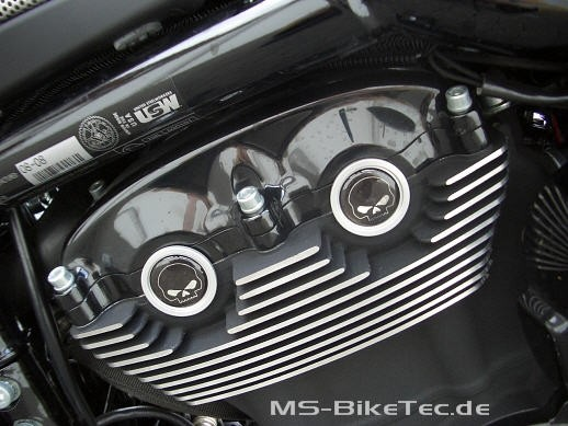 Cam Cover schwarz + chrom (Nockenwellenabdeckung) V Rod ® Night Rod Special ® Muscle ®