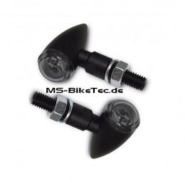 Wales-PB2 mini LED Blinker schwarz (1 Paar)