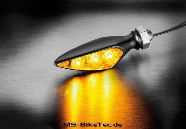 """LED Blinker RHOMBUS """"S"""" Dark + RHOMBUS """"S"""" DF Dark (1Paar)"""