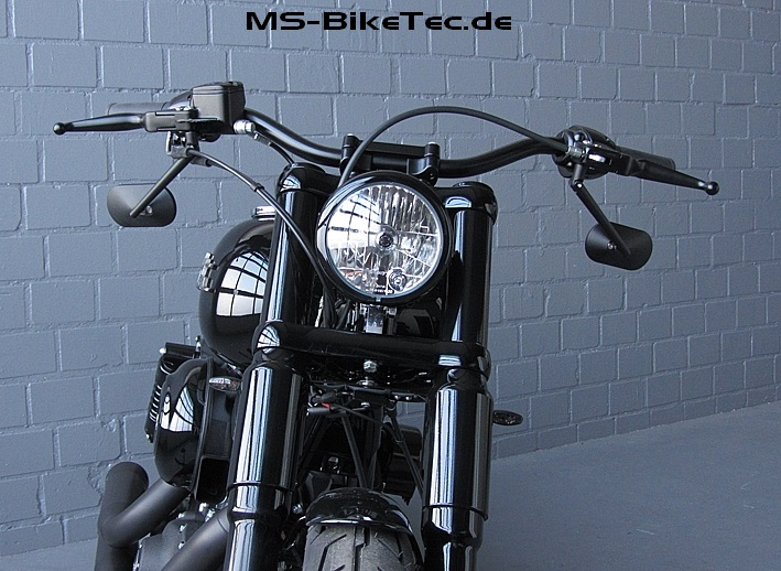 Spiegel custom schwarz und chrom f r harley v rod for Spiegel 30x30