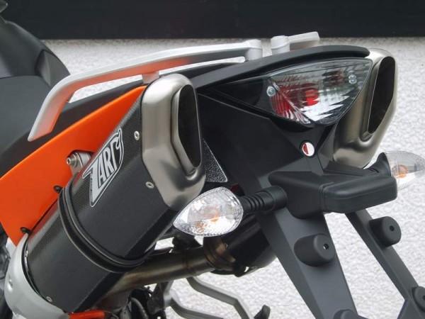"""ZARD Schalldämpferpaar """"Penta"""" mit Kat KTM ® Supermoto SM 950 / SM 990 mit ABE"""