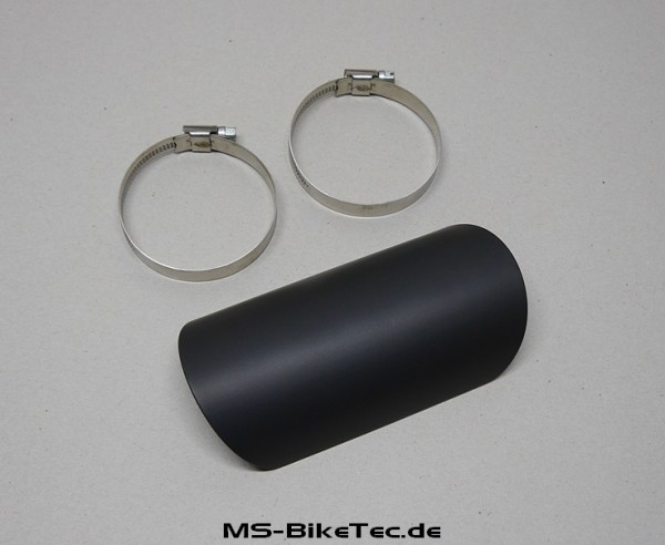 Auspuffkrümmer Hitzeschutzschild (universal / schwarz + poliert)