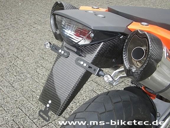 Carbon Kennzeichenhalter KTM ® Supermoto SM 950 / SM 990 / SM-R / SM-T / SE (ohne ABS)