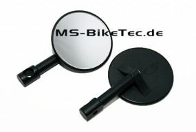 Universal Minilenkerenden Spiegel schwarz (2 Stück) e-Prüfzeichen