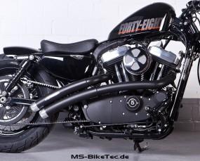 MS flat-bow 2in2 Komplettanlage mit ABE XL Sportster ® Modelle