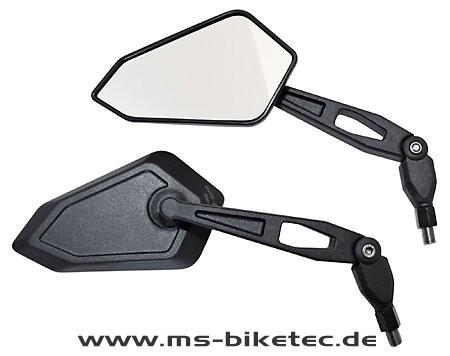 """Spiegel """"Radical"""" schwarz (2 Stück)"""