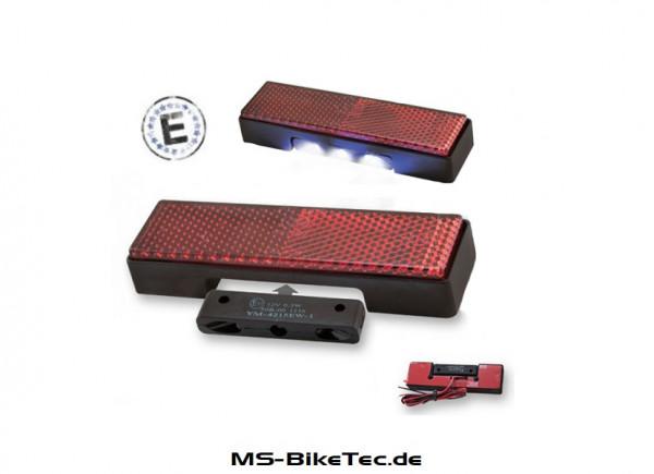Rückstrahler / Reflektor inkl. LED Kennzeichenbeleuchtung