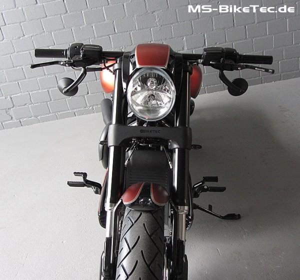 """Spiegel """"Round-Custom"""" schwarz und chrom für Harley ® V Rod ®, Sportster ®, Dyna ®, Softail ®... (2 Stück)"""