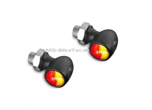 """LED Blinker """"Bullet Atto DF"""" Kellermann (1 Paar) mit integriertem Brems- und Rücklicht"""