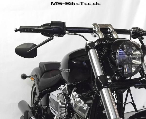 "Spiegel ""Ecco"" schwarz für Harley ® V Rod ®, Sportster ®, Dyna ®, Softail ®... (2 Stück)"