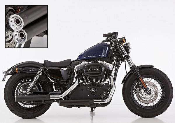 """Falcon """"Double Groove"""" slip-on Schalldämpfer mit ABE für Sportster ® XL Modelle (EURO 3+4)"""