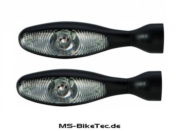 LED Blinker micro 1000 LED Kellermann schwarz (1 Paar)
