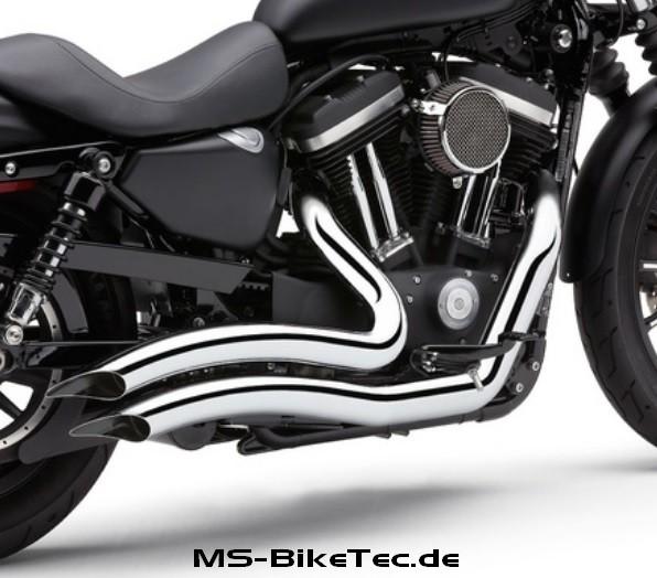 """Cobra """"Swept X-Torque"""" Komplettanlage, mit ABE, Sportster XL Modelle"""