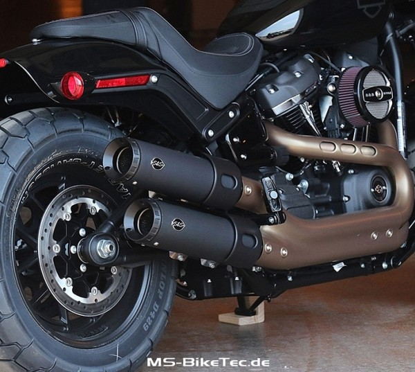 "S&S ""Grand National"" Slip on Schalldämpfer mit TÜV für Softail Fat Bob"