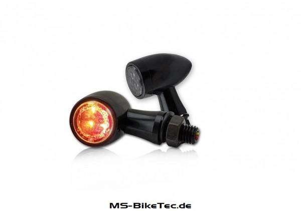 "LED-Blinker ""TEKK"" schwarz 1Paar (inkl. Brems-, Blink- u. Rücklichtfunktion)"